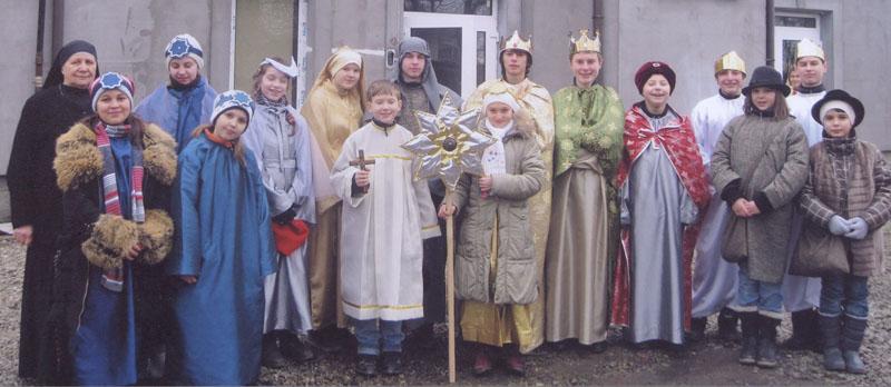 Glaubensunterweisung in Burshtyn, Ukraine, unter einem guten Stern