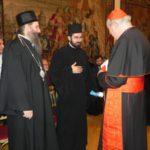 Der serbisch-orthodoxe Bischof Andrej (links) im Gespräch mit Christoph Kardinal Schönborn. Foto: Claudia Schneider.
