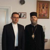 Pfarrer Istvan Hollo und Bischof Atanáz Orosz