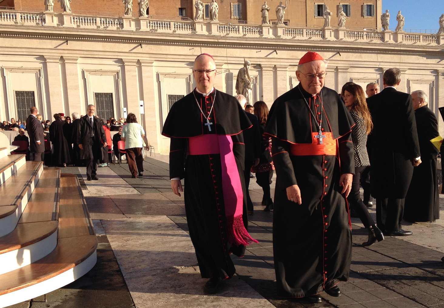 Bischof Charles Morerod OP und Erzbischof em. Alois Kothgasser SDB