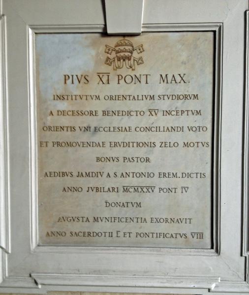 Gedenktafel Pius XI.