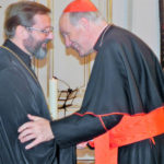 Kardinal Christoph Schönborn mit dem Großerzbischof der ukrainischen griechisch-katholischen Kirche Svjatoslav Shevchuk, Foto: Claudia Schneider