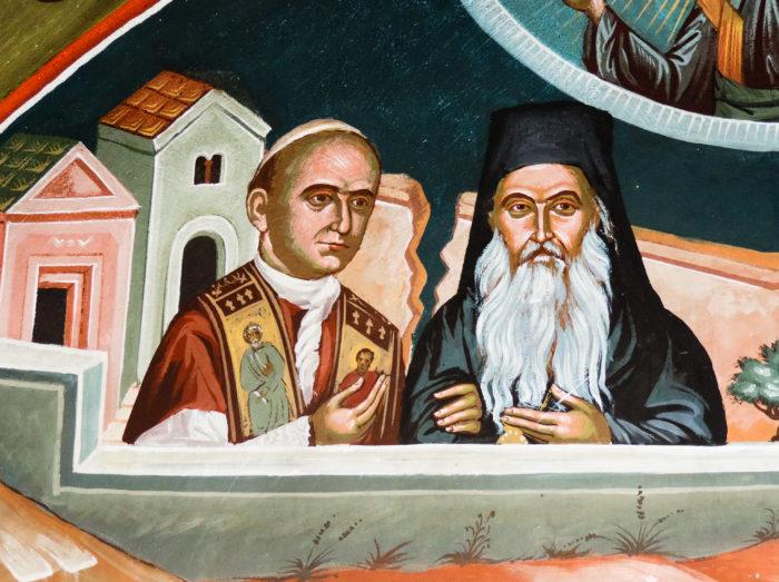 Paul VI. und Athenagoras, Foto: © kathbild.at / Franz Josef Rupprecht.