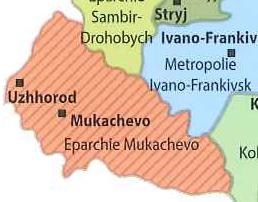 Karte Mukachevo