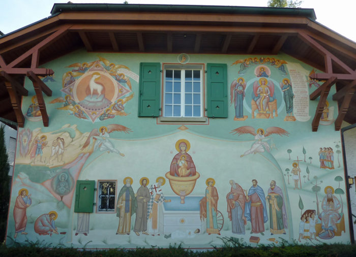 Fribourg Hauswand