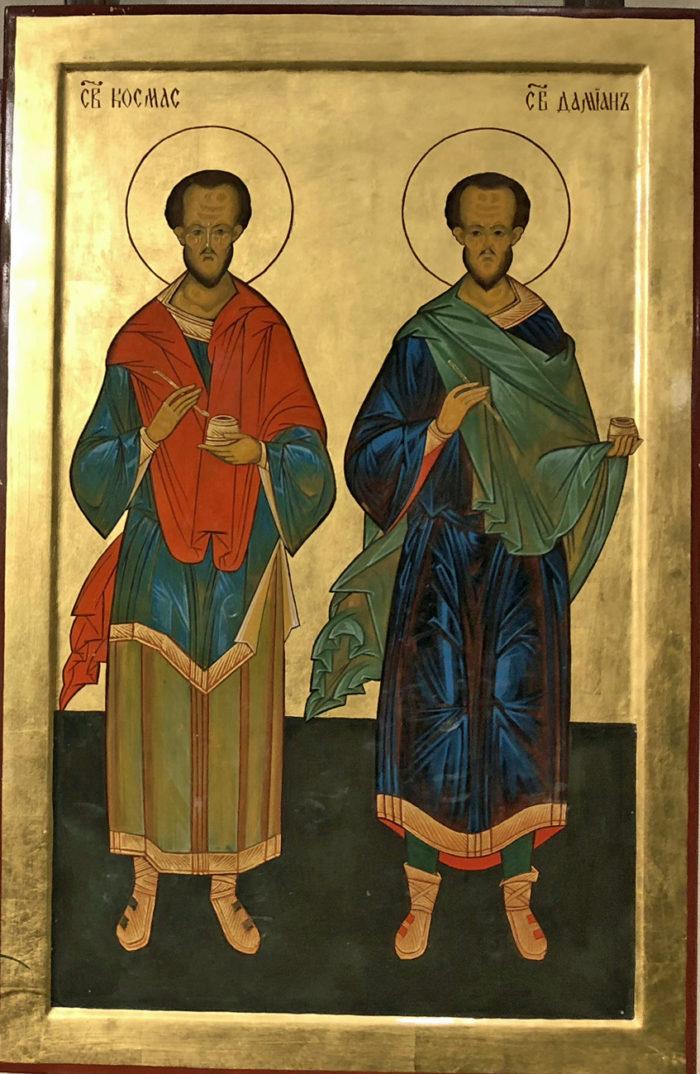 Ikone Kosmas und Damian