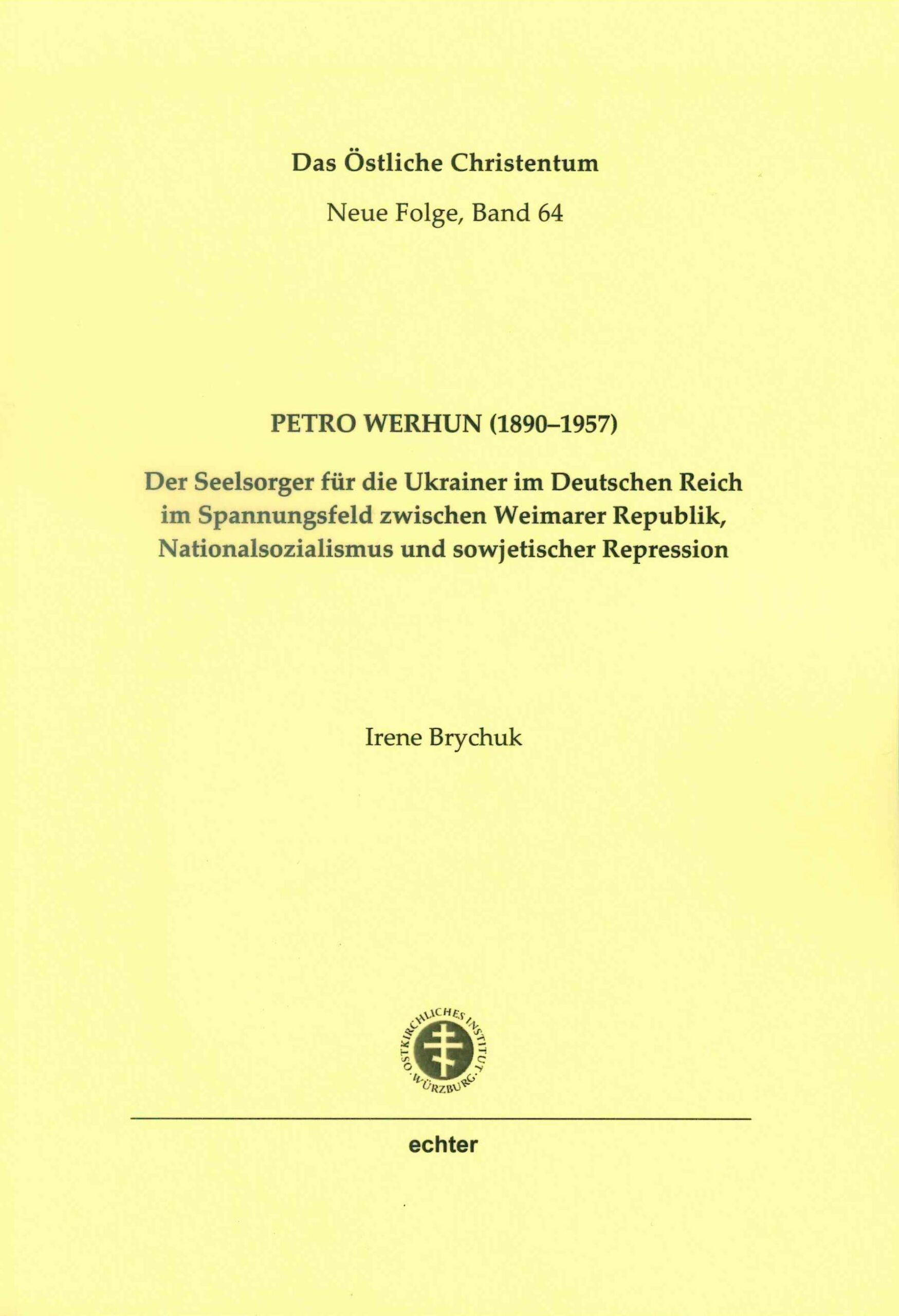 Buchcover Petro Werhun