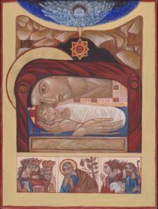 Різдво Христове (Ikone, geschrieben von Angela Straberger)