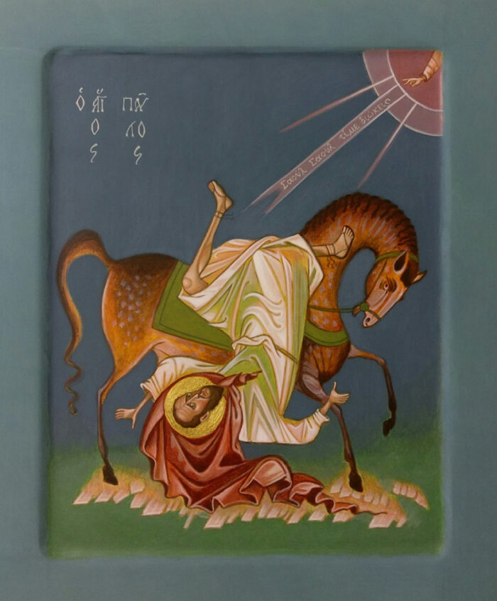 Ikone Bekehrung des Apostels Paulus
